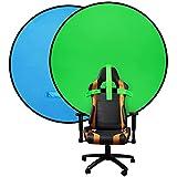 JIGA Chromakey Hintergründe,Doppelseitiger Greenscreen Rollup und Bluescreen Set,Background screen,2-in-1 Faltbarer und Reversibler Hintergrund für Fotografie, Live-Streaming usw (142cm)